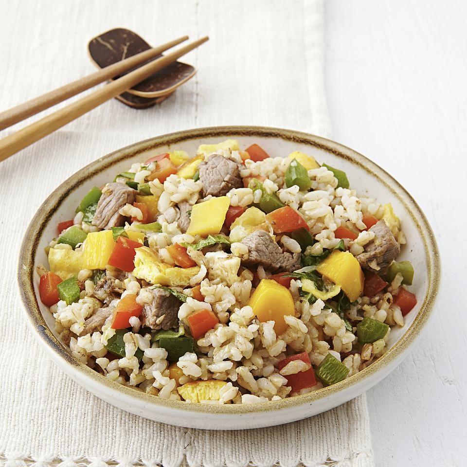 Thai Beef & Mango Fried Rice Recipe