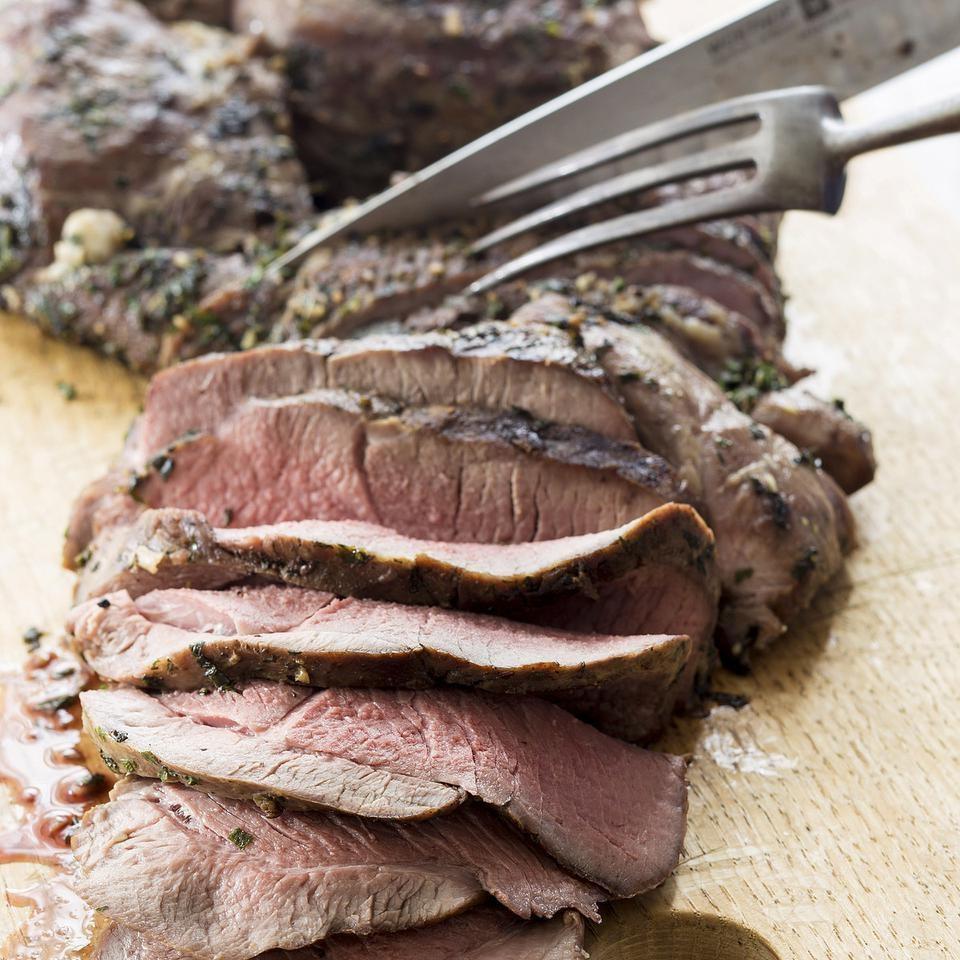 Grilled Leg of Lamb with Mint-Garlic Rub
