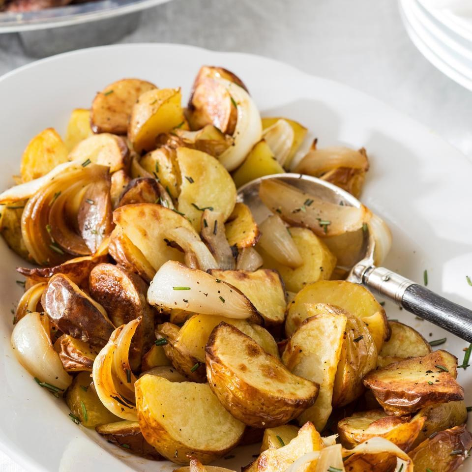 Rosemary Roasted Potatoes & Sweet Onions