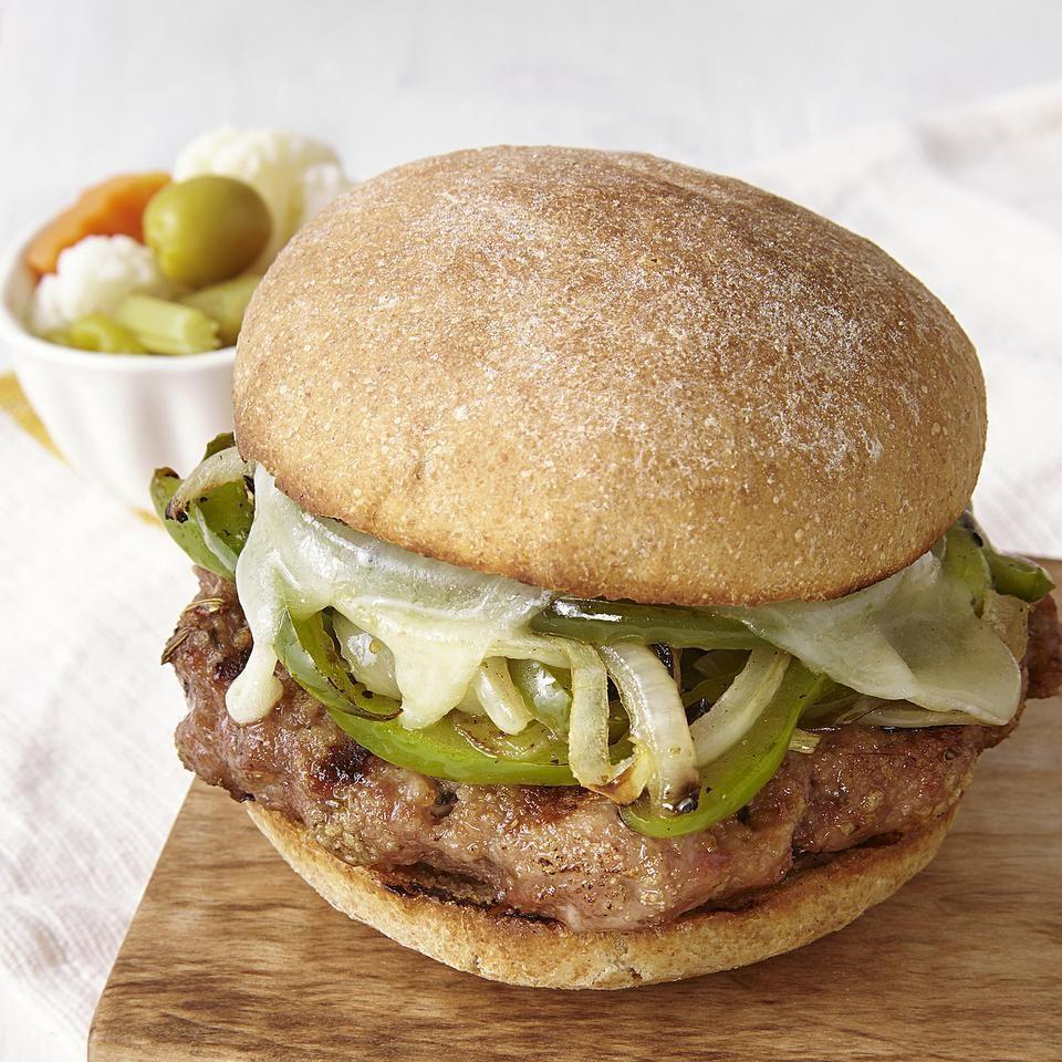 Turkey Sausage & Peppers Burger