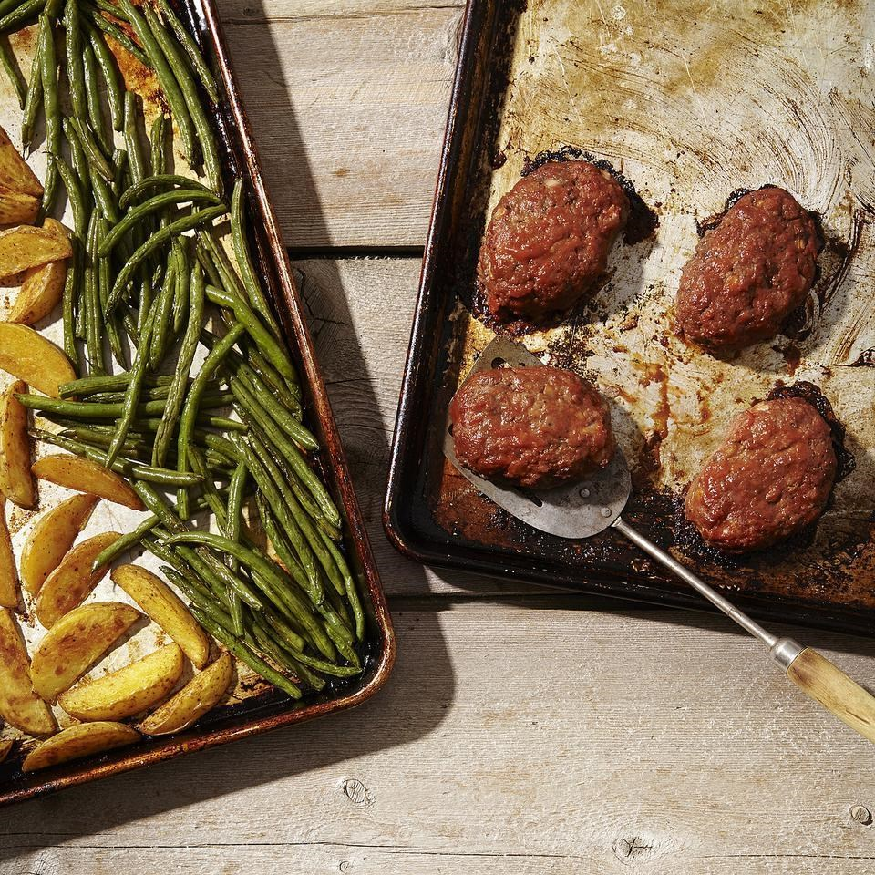 Mini Meatloaves with Green Beans & Potatoes