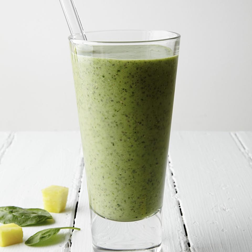 Pineapple Green Smoothie Recipe Eatingwell