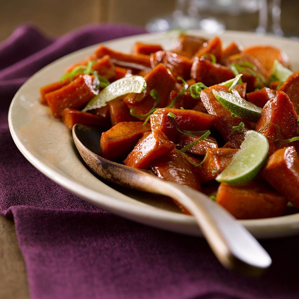 Maple-Lime Roasted Sweet Potatoes
