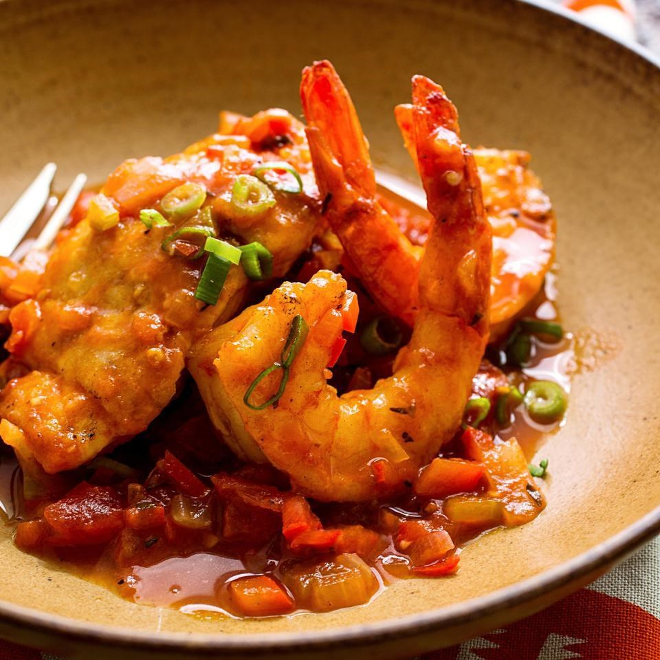 Diabetic dinner recipes eatingwell snapper shrimp with creole sauce forumfinder Image collections