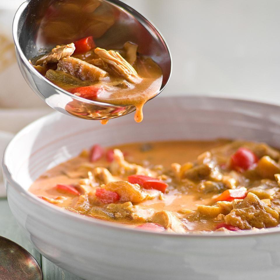 Serbian Chicken & Eggplant Soup