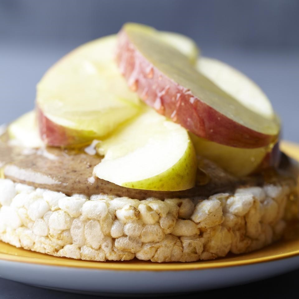 Nutty Rice Cake with Honey