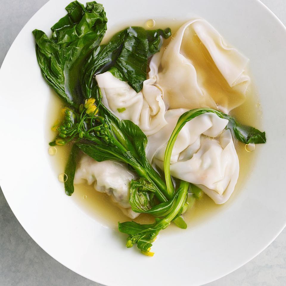 Shrimp Amp Chinese Chive Wonton Soup Recipe Eatingwell