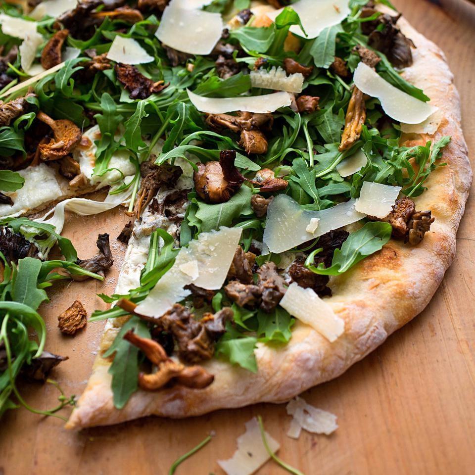 Wild Mushroom Pizza with Arugula & Pecorino Recipe ...