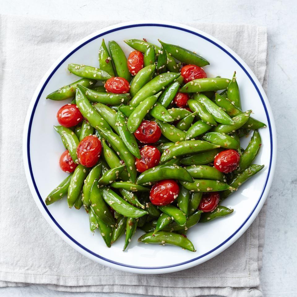Snap Pea & Cherry Tomato Stir-Fry
