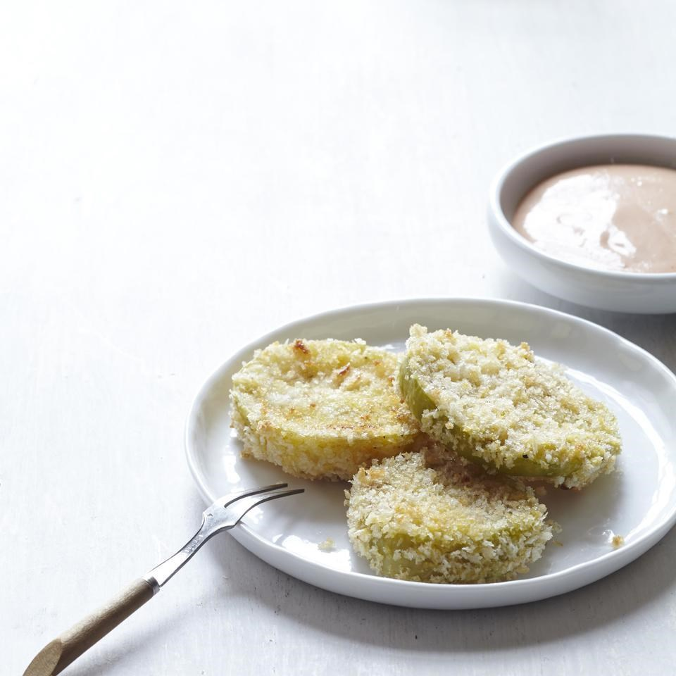 Oven-Fried Green Tomatillos