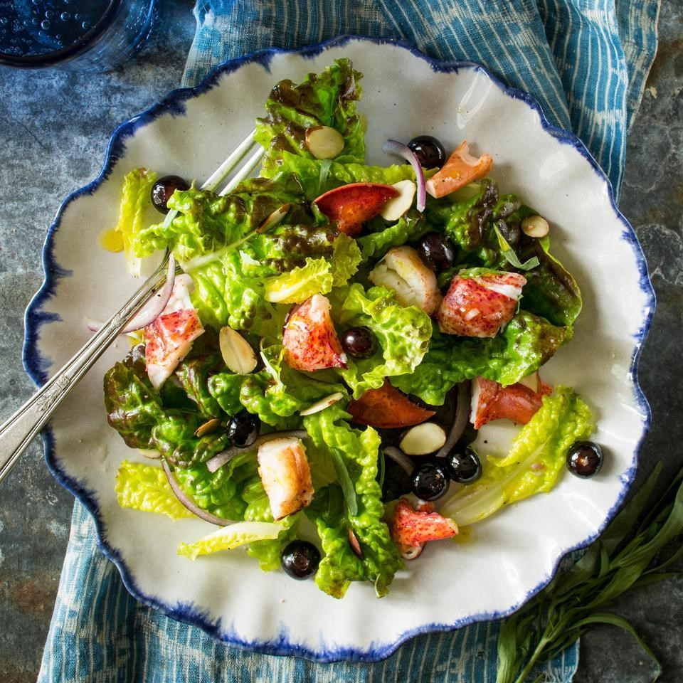 Maine Blueberry & Lobster Salad Recipe - EatingWell