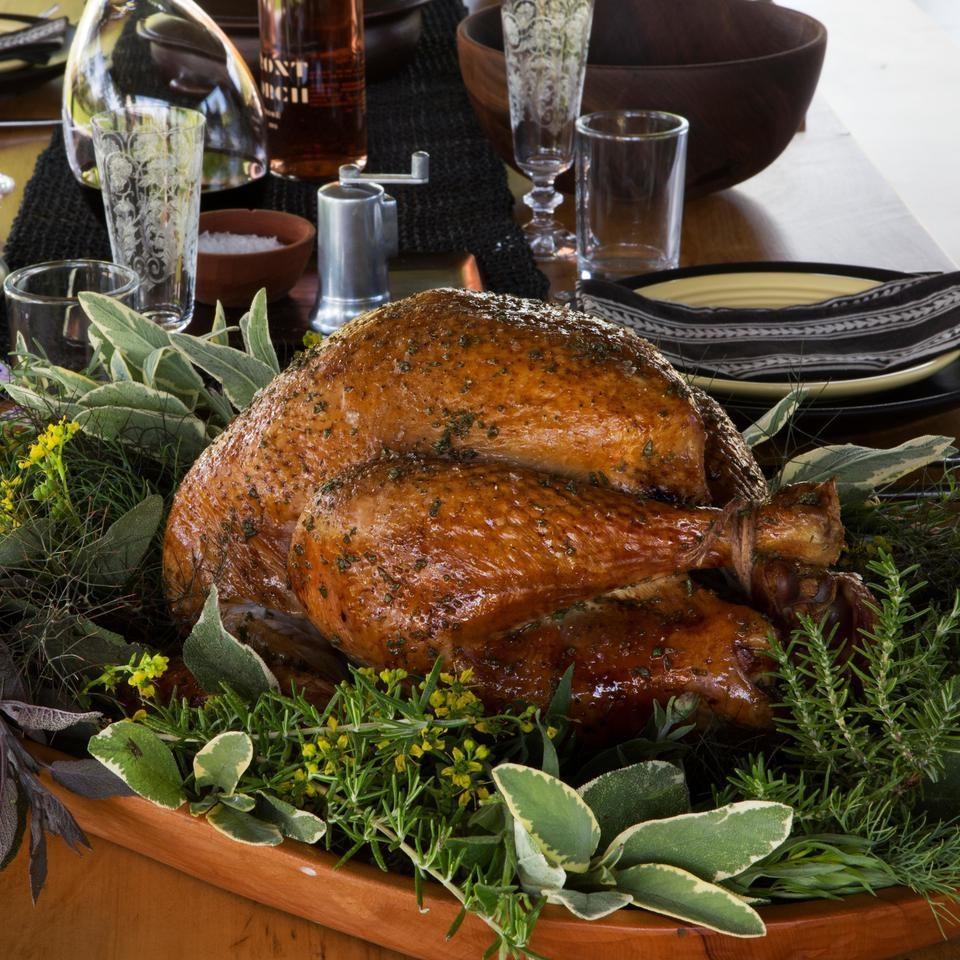 Herb-Roasted Turkey with Calvados Gravy Recipe - EatingWell
