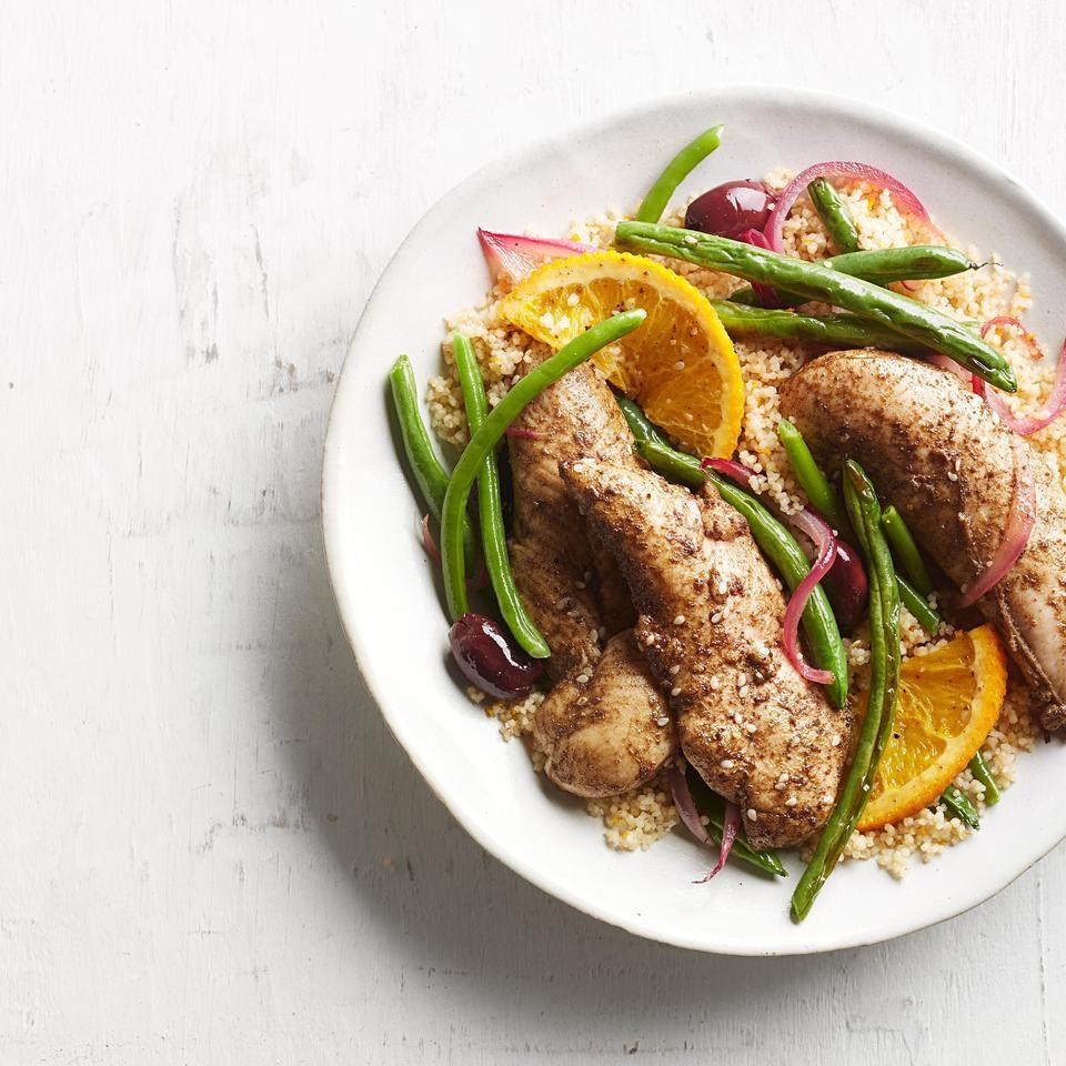 Za'atar-Roasted Chicken Tenders & Vegetables with Couscous