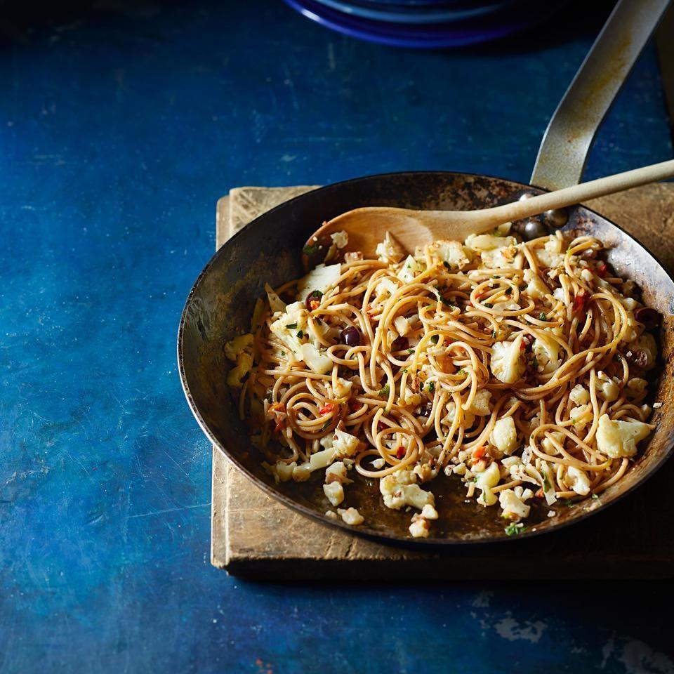 Spicy Cauliflower & Pancetta Spaghetti