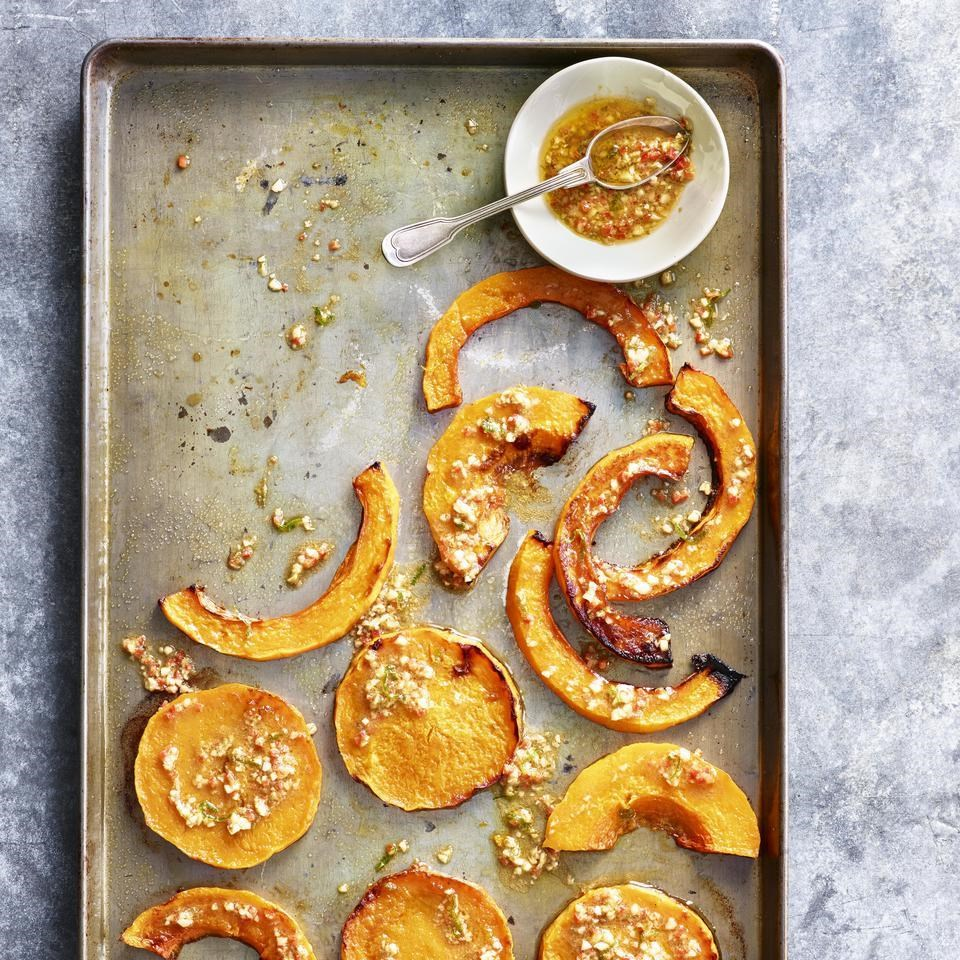 Roasted Squash with Garlic, Lime & Chile