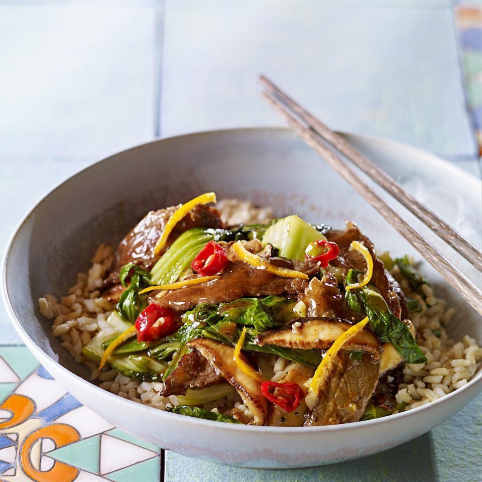 Tangerine Bok Choy & Beef Stir-Fry