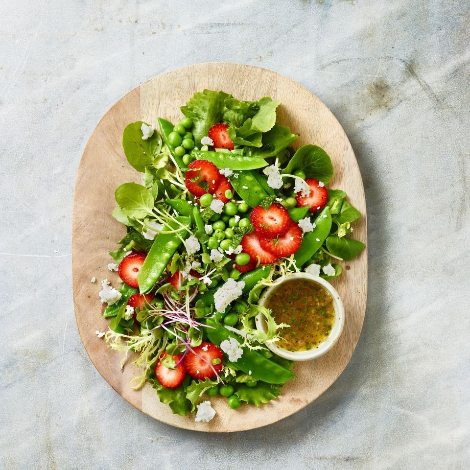 Spring Pea Salad With Strawberries Recipe Eatingwell