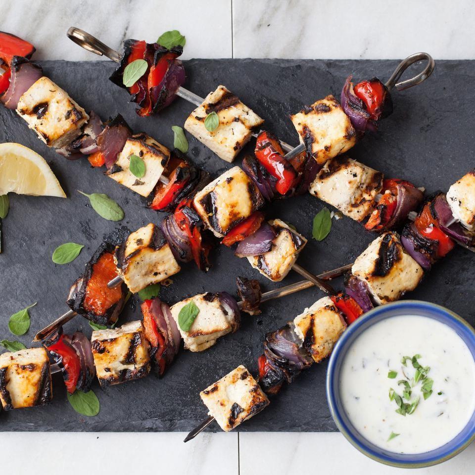 Lemon & Herb Tofu Kebabs