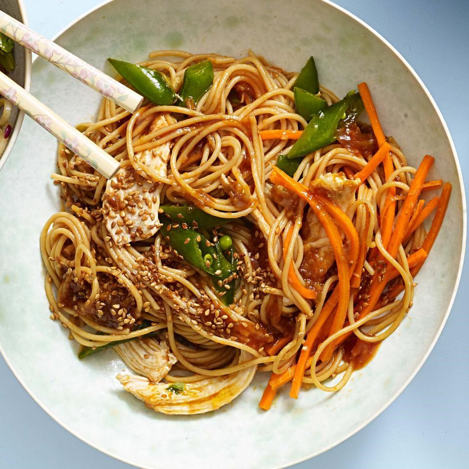 Classic sesame noodles with chicken recipe eatingwell classic sesame noodles with chicken forumfinder Images