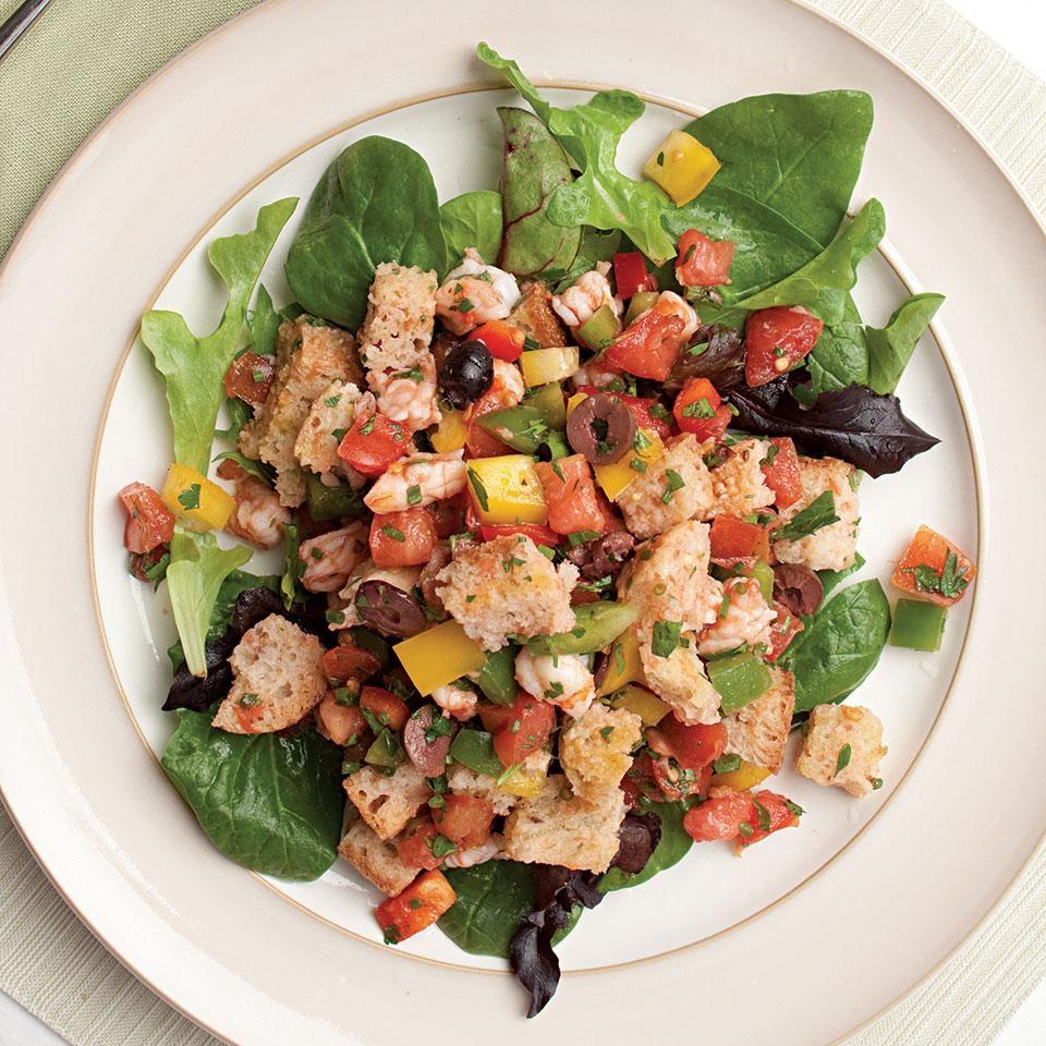 Iron rich recipes eatingwell shrimp panzanella forumfinder Choice Image
