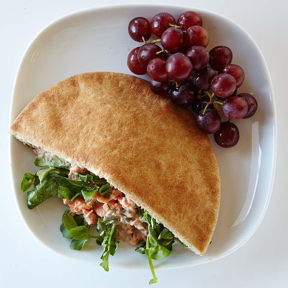 Salmon Pita Sandwich