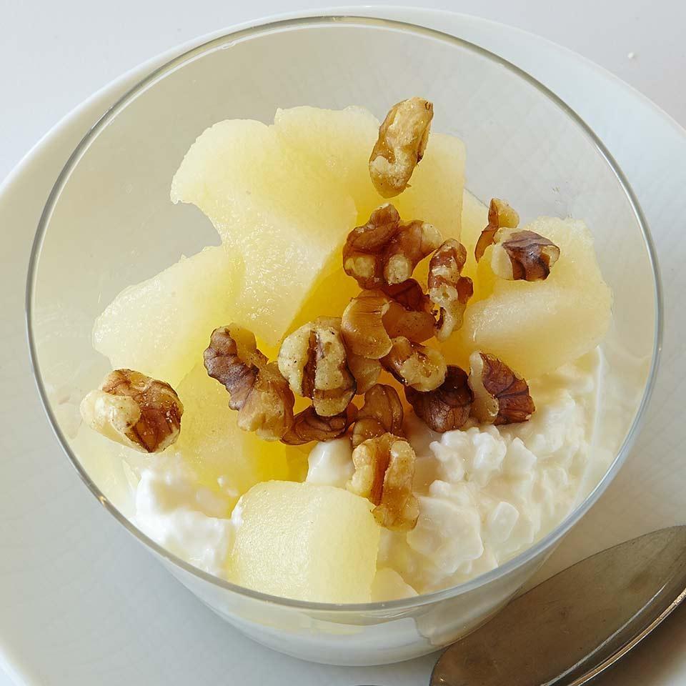 Cottage Cheese & Pear Parfait