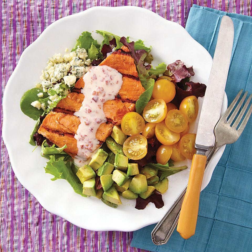 Healthy recipes for potassium rich foods eatingwell southwestern salmon cobb salad forumfinder Image collections