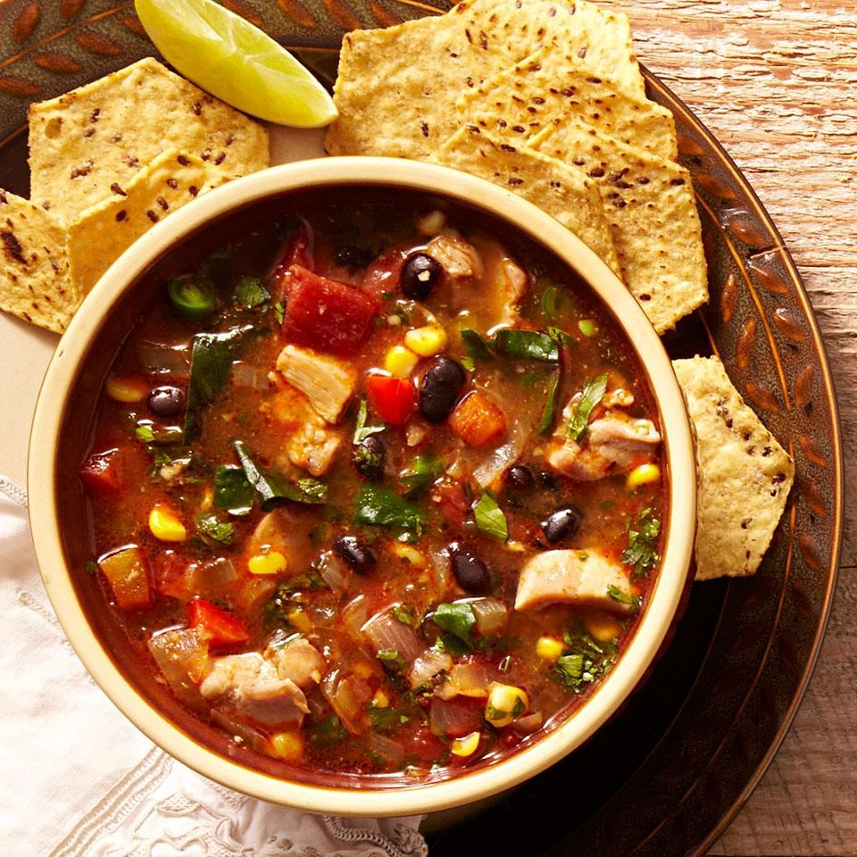 Southwestern Vegetable & Chicken Soup Recipe