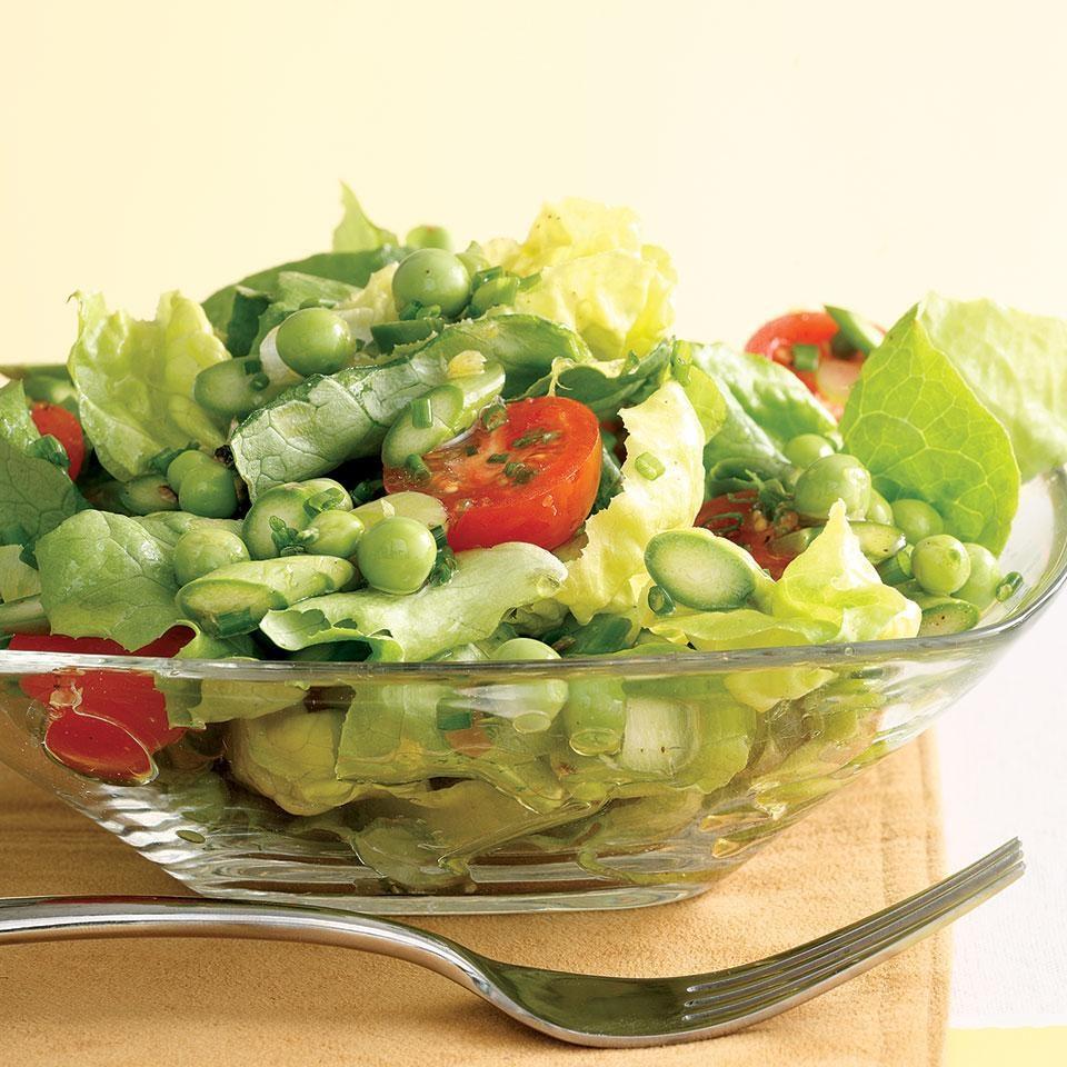 Green Salad With Asparagus & Peas (Salat Med Asparges Og