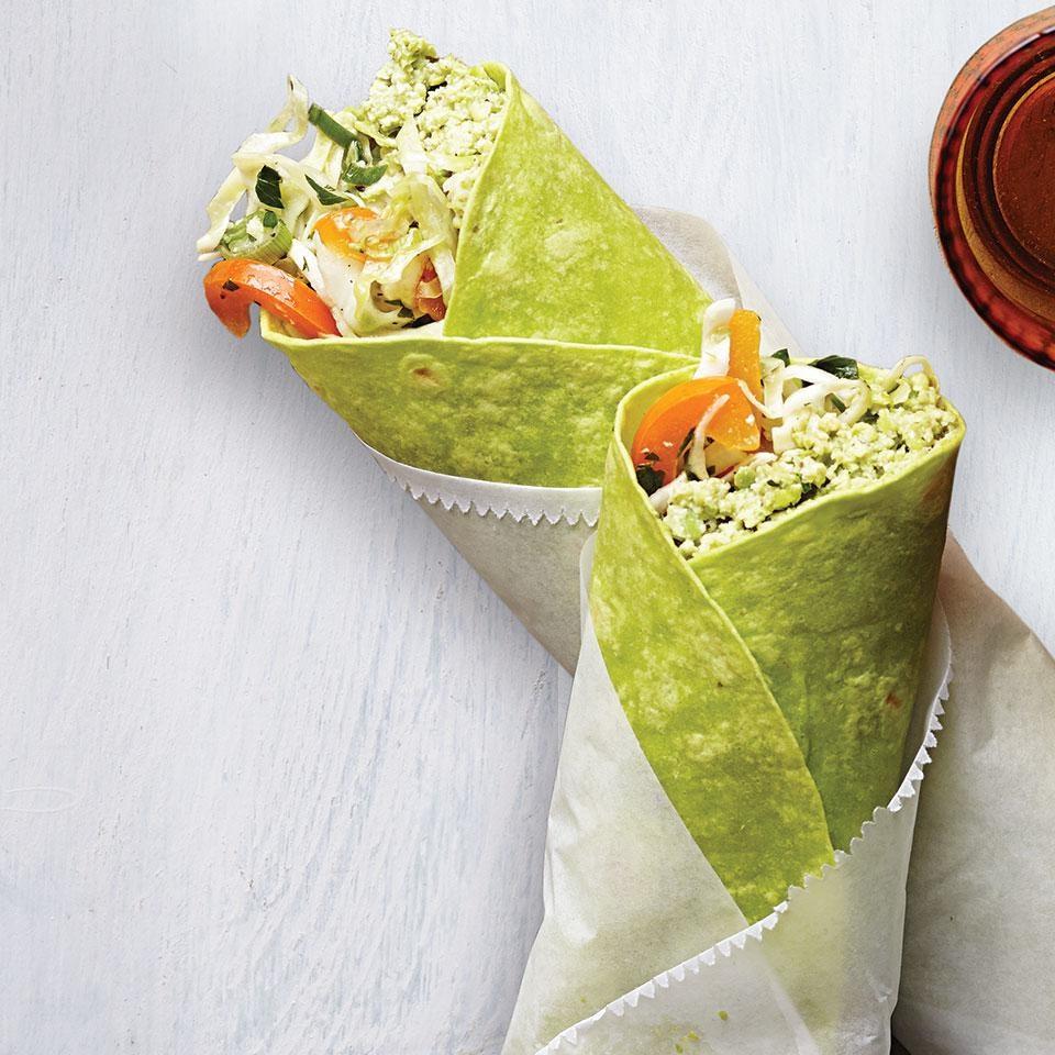 Edamame Hummus Wrap for Two