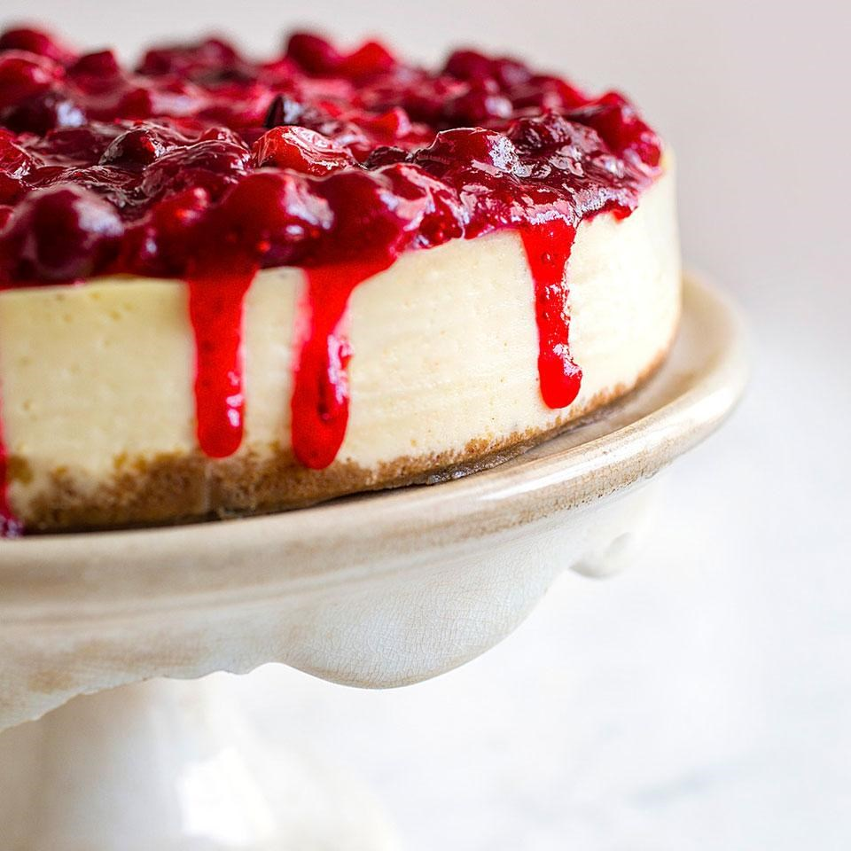 Cranberry-Lime Cheesecake Recipe - EatingWell