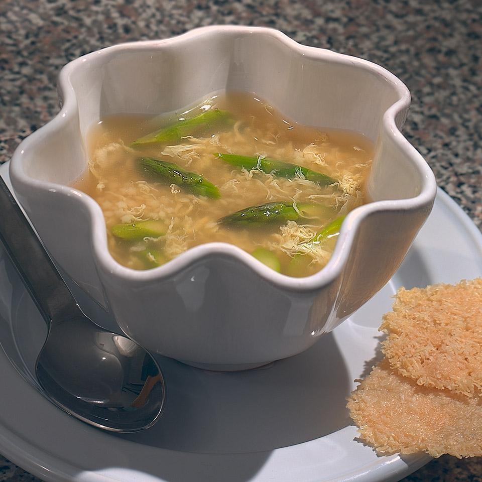 Soup Recipes Asparagus: Egg Thread Soup With Asparagus Recipe