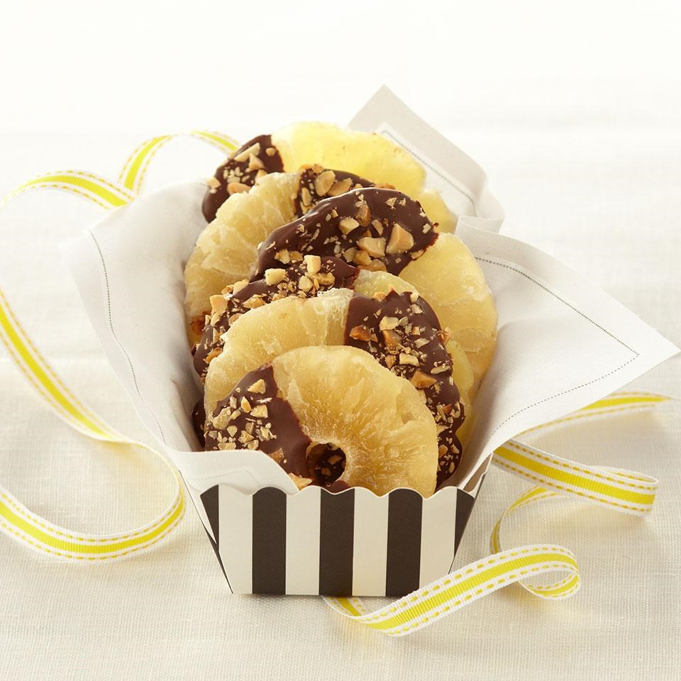 Chocolate-Dipped Pineapple Rings Recipe