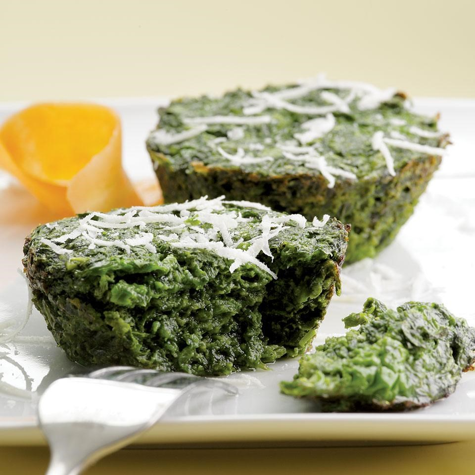 Parmesan Spinach Cakes Recipe - EatingWell