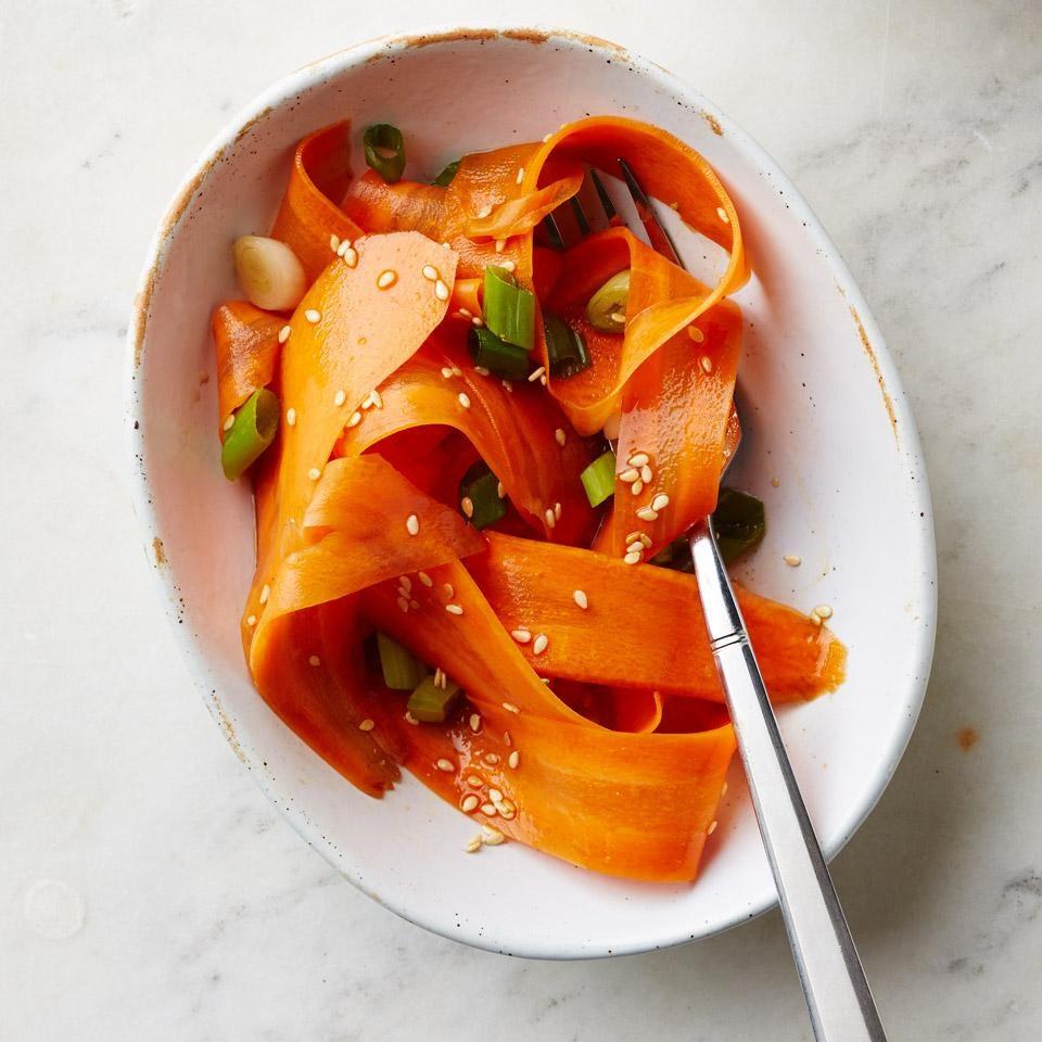 Sesame-Honey Carrot Ribbon Salad