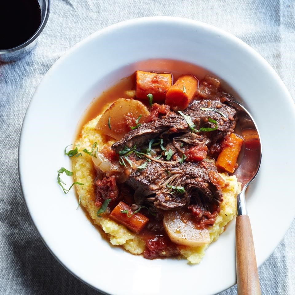 Slow-Cooker Braised Beef with Carrots & Turnips