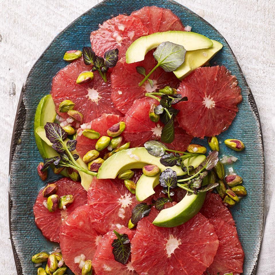 Red Grapefruit Salad With Avocado & Pistachios Recipe