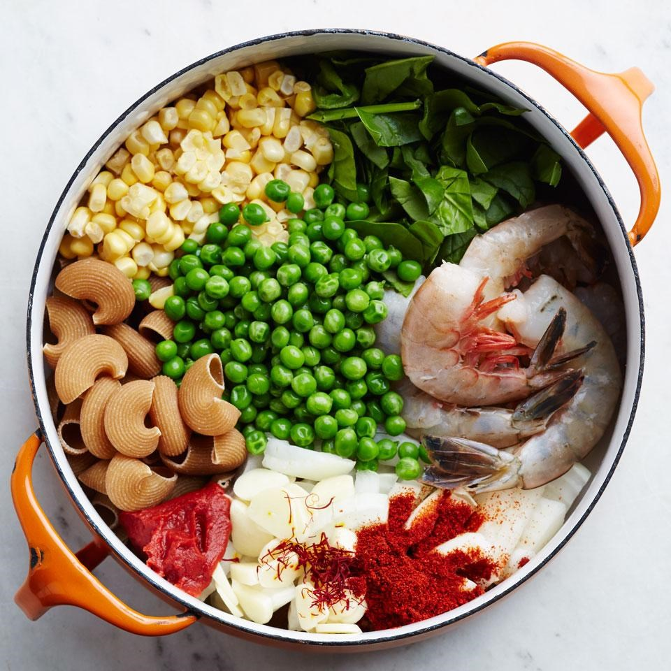 Smoky Shrimp, Corn & Pea One-Pot Pasta Recipe - EatingWell