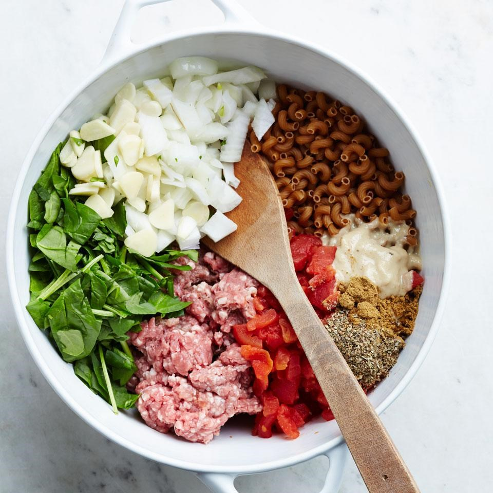 Lamb Amp Spinach One Pot Pasta Recipe Eatingwell