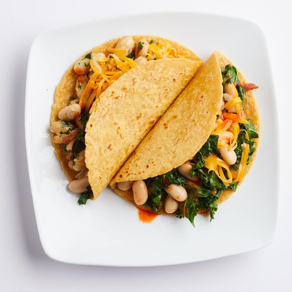 Bean & Bacon Breakfast Tacos