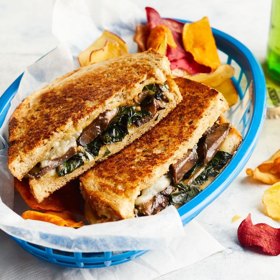 Collards & Portobello Grilled Cheese
