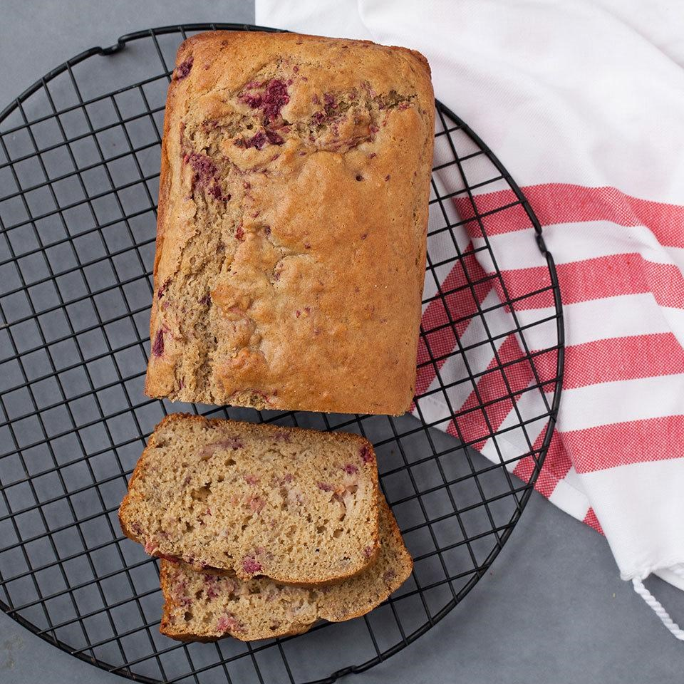 Raspberry Rhubarb Bread