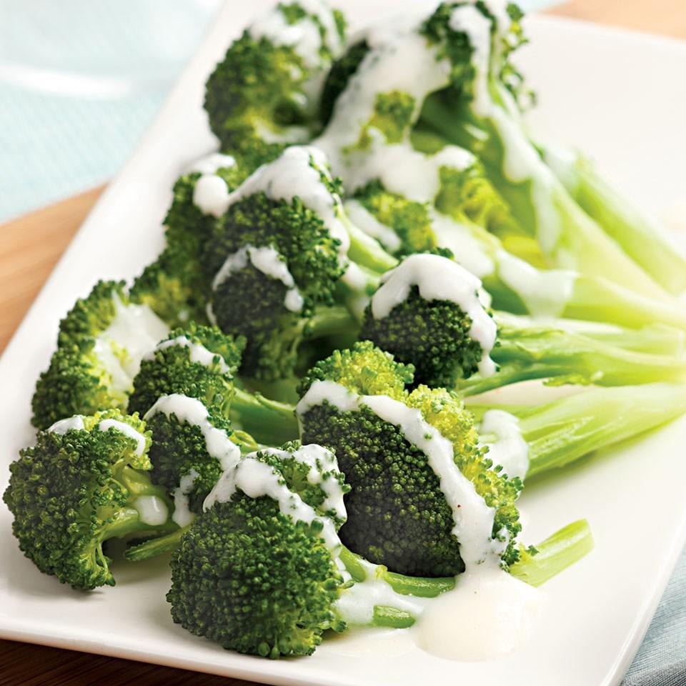 Broccoli with Creamy Parmesan Sauce
