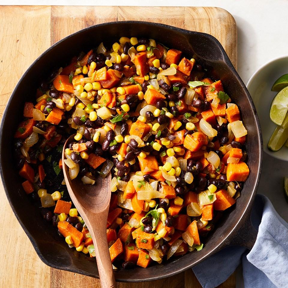 Sweet Potato, Corn & Black Bean Hash Recipe