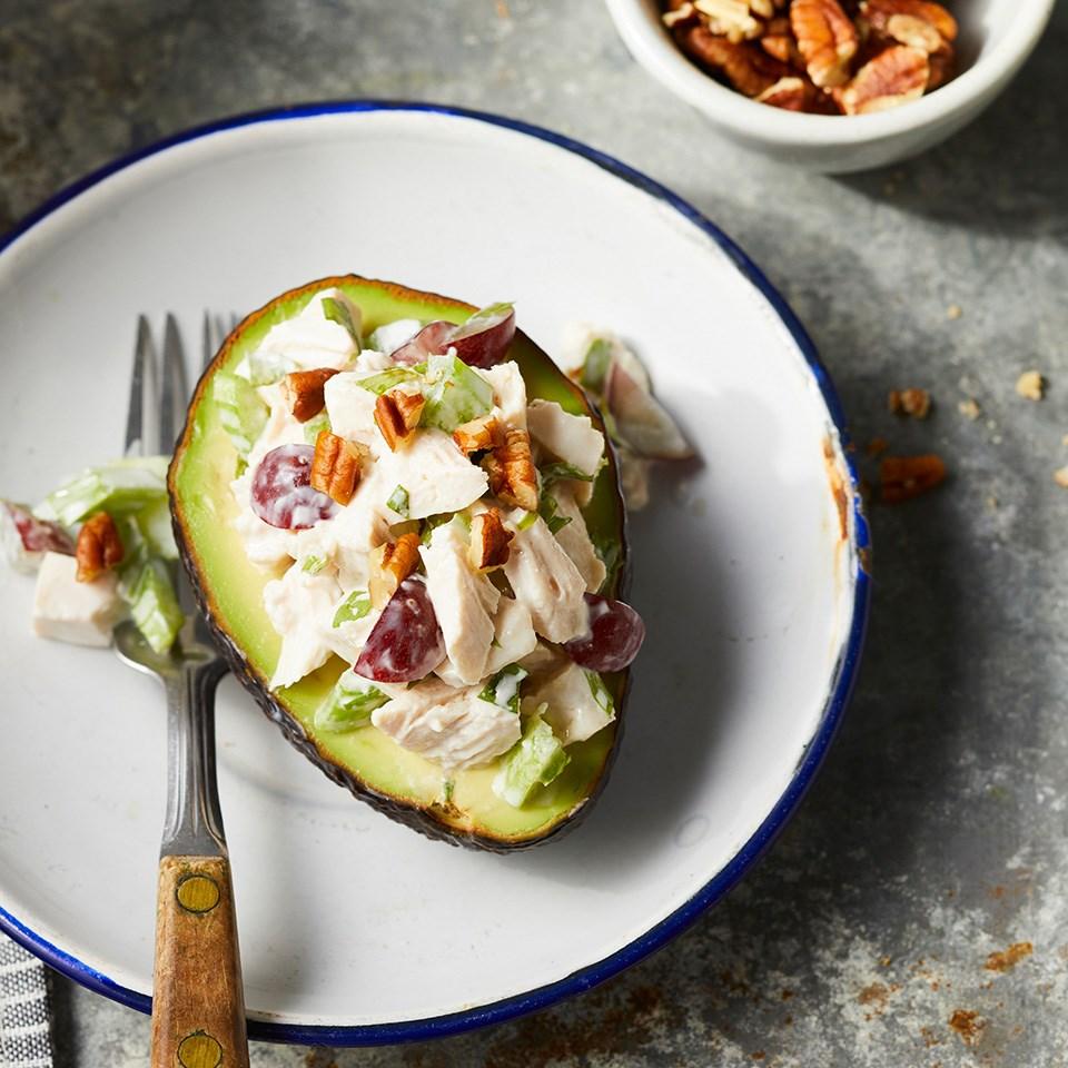 Chicken Salad-Stuffed Avocados Recipe - EatingWell