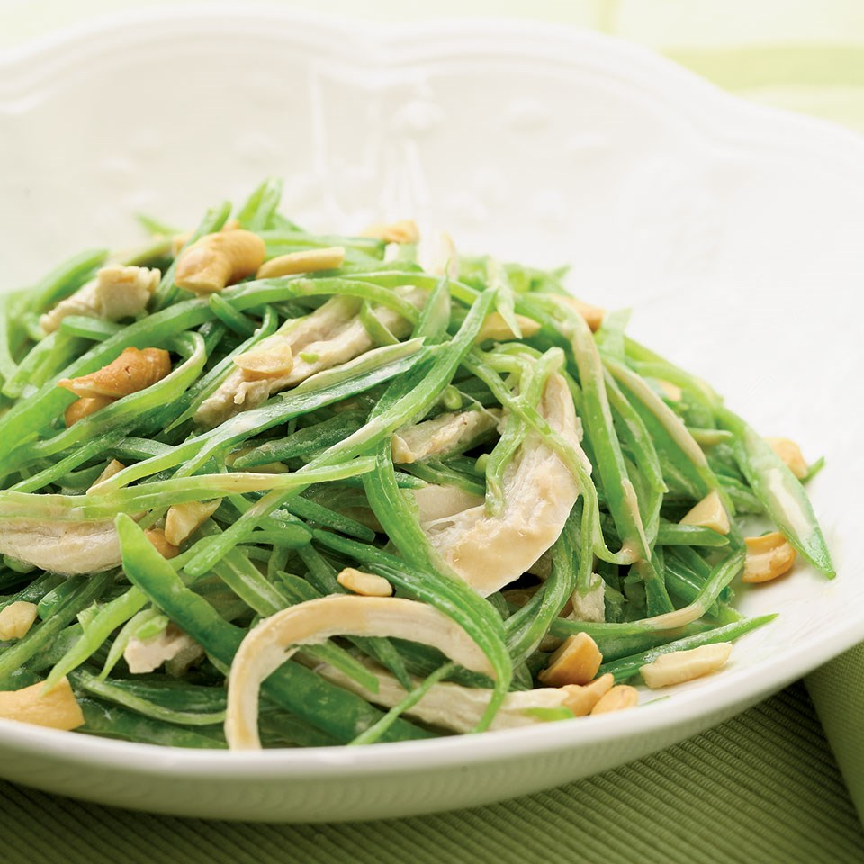 Warm Snow Pea & Chicken Salad