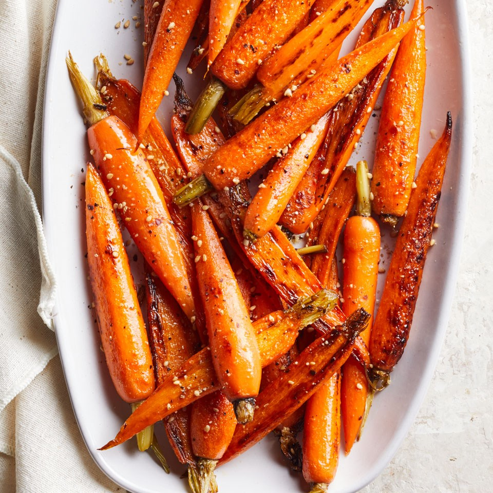 Sautéed Carrots with Gomasio