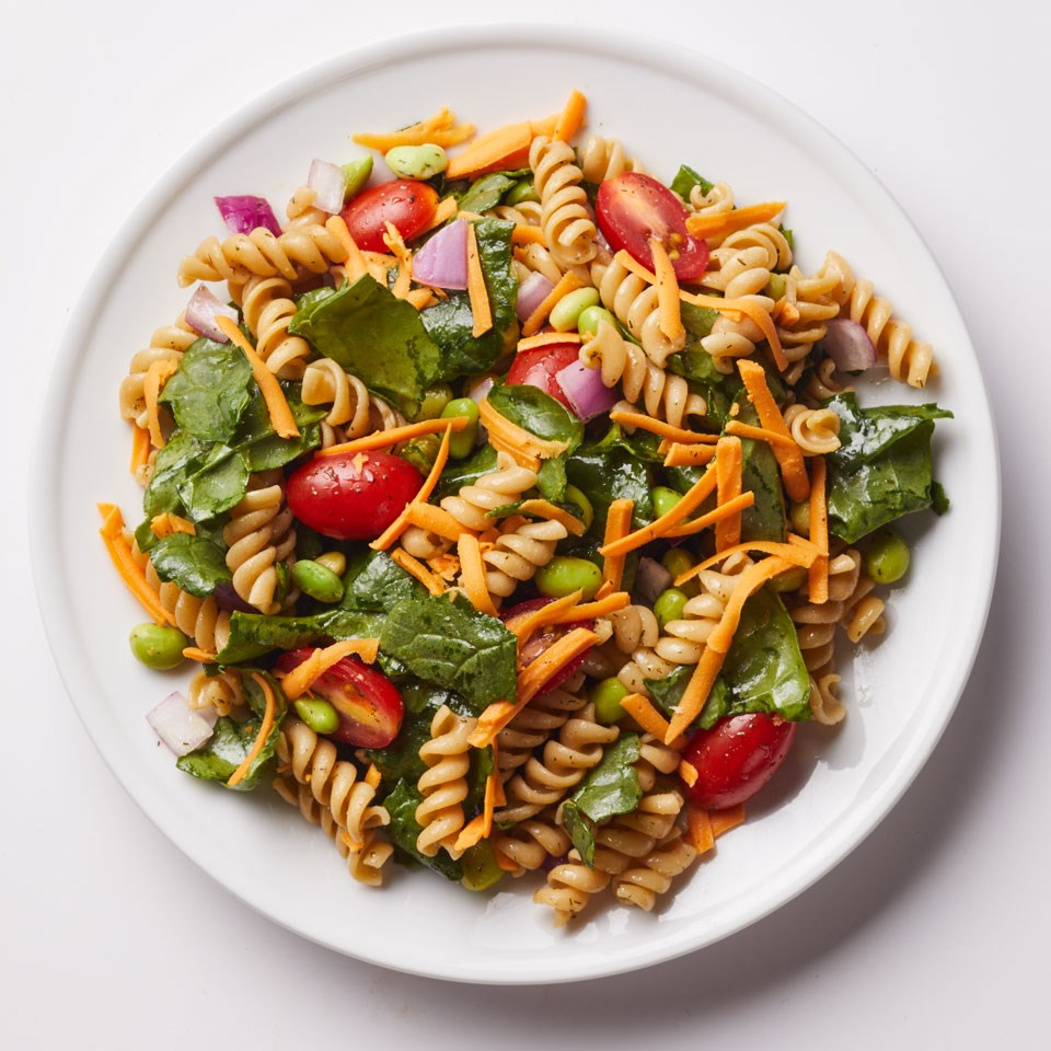 spinach amp dill pasta salad recipe   eatingwell