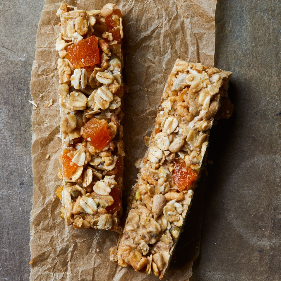 Nut-Free Apricot-Sunflower Granola Bars