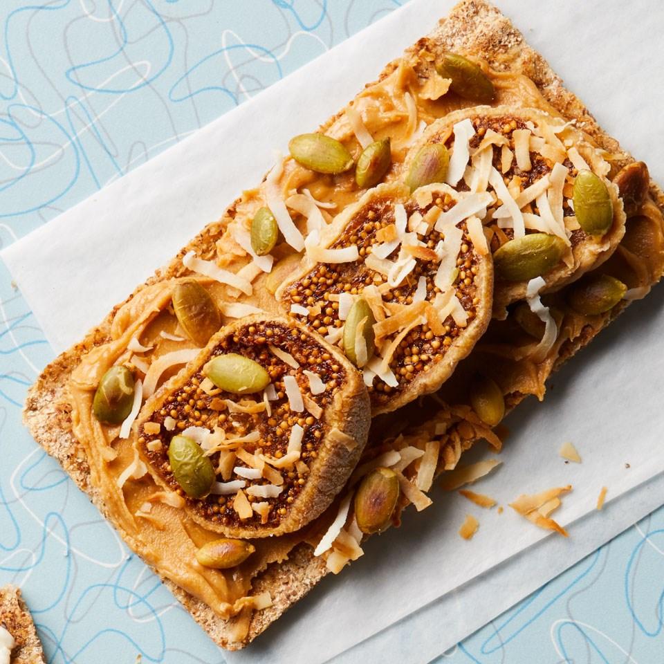 Peanut Butter & Fig Crispbreads